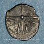 Coins Marseille (380-336 av. J-C). Obole à la tête d'Apollon à droite