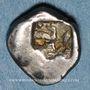 Coins Marseille (470-450 av. J-C). Obole phocaïque à la tête d'Apollon