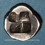 Coins Marseille (500-470 av. J-C). Obole phocaïque au lion dévorant une proie