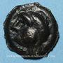 Coins Rémi. Région de Reims. Potin à la tête coupée, 2e - 1er siècle av. J-C