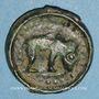 Coins Rémi. Région de Reims. Potin au bucrâne, 1er siècle av. J-C. DT 221, cet exemplaire !