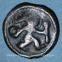 Coins Rémi. Région de Reims. Potin au guerrier courant, vers 58-48 av. J-C