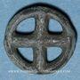 Coins Rouelle celte à quatre rayons. Potin. 14,7 mm