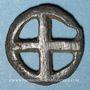 Coins Rouelle celte à quatre rayons. Potin. 16,10 mm