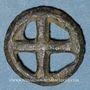Coins Rouelle celte à quatre rayons. Potin. 16,27 mm