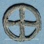 Coins Rouelle celte à quatre rayons. Potin. 16,88 mm