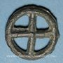 Coins Rouelle celte à quatre rayons. Potin. 17,05 mm