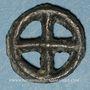 Coins Rouelle celte à quatre rayons. Potin. 17,11 mm