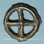 Coins Rouelle celte à quatre rayons. Potin. 17,91 mm