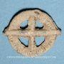 Coins Rouelle celte en plomb à quatre rayons. 14,81 mm