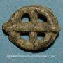 Coins Rouelle celte en plomb à quatre rayons. 8,52 mm