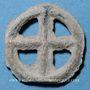 Coins Rouelle celte en plomb à quatre rayons