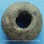 Coins Rouelle celte ovale en plomb