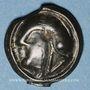 Coins Séquanes (région de Besançon) (fin du 2e s. - 1er tiers du 1er siècle av. J-C). Potin au triangle