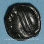 Coins Séquanes. Région de Besançon. Potin à la grosse tête, 2e  - 1er siècle av. J-C