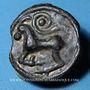 Coins Séquanes. Région de Besançon. Potin à la grosse tête diadémée, 2e  - 1er siècle av. J-C