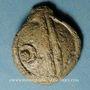 Coins Séquanes. Région de Besançon. Potin à la grosse tête en plomb, 3e siècle av. J-C