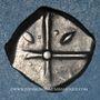 Coins Volques Tectosages. Drachme à la tête cubiste, 1er siècle av. J-C