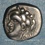 Coins Volques Tectosages. Région de Toulouse. Drachme à la tête romanisée, 1er siècle av. J-C
