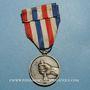 Coins Médaille d'Honneur des Chemins de Fer. 2e modèle. Médaille d'argent. Bronze argenté