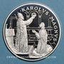 Coins Andorre. Principauté. 10 diners 1996. Couronnement de Charlemagne. (PTL 925/1000. 31,47 g)