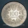 Coins Autriche. République. 100 schilling (1974). Jeux olympiques d'hiver d'Innsbruck -Emblème olympique