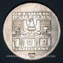 Coins Autriche. République. 100 schilling (1975). Immeuble et anneaux olympiques - Ecusson