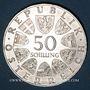 Coins Autriche. République. 50 schilling 1970. Dr Charles Renner