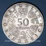 Coins Autriche. République. 50 schilling 1972. 100e anniversaire de l'Institut d'agriculture