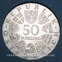 Coins Autriche. République. 50 schilling 1972. Université de Salzbourg