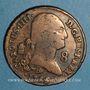 Coins Espagne. Charles IV (1788-1808). 8 maravedis 1795. Ségovie