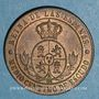 Coins Espagne. Isabelle II (1833-1868). 1/2 centimos 1867 OM. Barcelone