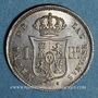 Coins Espagne. Isabelle II (1833-1868). 1 real 1860. Madrid