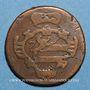 Coins Italie. Gorize. François II d'Autriche (1792-1804). 2 soldi 1799S. Schmöllnitz