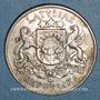 Coins Lettonie. République. 2 lati 1925.