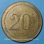 Coins Monaco. Ligue Monégasque. 20 centimes