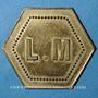 Coins Monaco. Ligue Monégasque. 50 centimes