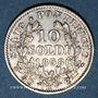 Coins Vatican. Pie IX (1846-1878). 10 soldi 1868, an XXIII. Rome