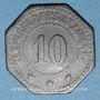 Coins Algrange (57). Gemeinde Algringen (Municipalité d'Algrange). 10 pfennig. Inédit !