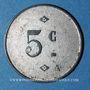 Coins Angoulême (16). Comptoir d'Approvisionnement - Général Angoumois. 5 centimes