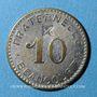 Coins Beaucourt (90). Fraternelle. 10 centimes. Contremarqué d'une étoile
