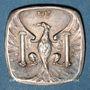 Coins Besançon (25). Ville. 10 centimes 1917. Essai postérieur. Argent