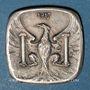Coins Besançon (25). Ville. 5 centimes 1917. Essai postérieur. Argent