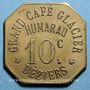 Coins Béziers (34). Grand Café Glacier - Humarau. 10 centimes