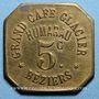 Coins Béziers (34). Grand Café Glacier - Humarau. 5 centimes