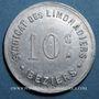 Coins Béziers (34). Syndicat de Limonadiers. 10 centimes. Aluminium