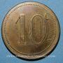 Coins Béziers (34). Syndicat de Limonadiers. 10 centimes. Laiton