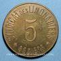 Coins Béziers (34). Syndicat de Limonadiers. 5 centimes. Laiton