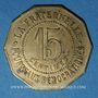 Coins Béziers (34). Ville de Béziers - La Fraternelle. 15 centimes 1.1.1880