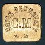 Coins Brunstatt (68). Cercle musical - Union Brunstatt. sans valeur (pour le vin)